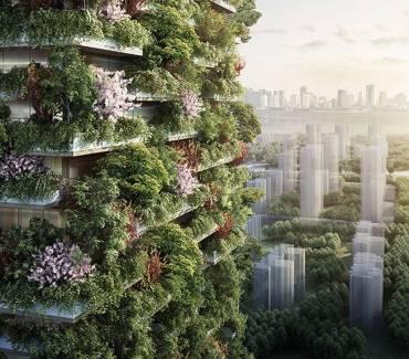 Des tours végétales pour purifier l'air des villes en Chine